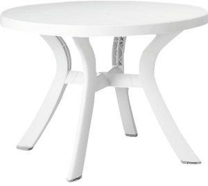 طاولة دائرية بطراز توسكانا من ناردي - اللون ابيض