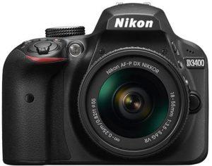 كاميرا نيكون D3400 - 24.2 ميجا بكسل AF-P 18 - 55، فتحة عدسة 3.5 - 5.6G عدسات VR، اسود