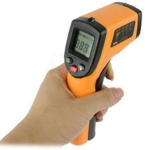 جهاز لقياس درجة الحرارة والحرارة العالية بالموجات تحت الحمراء بدون تماس - GM320