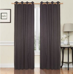 Diveenas Polyester Grey 240 x 140 cm Classic Solid Toned Curtain
