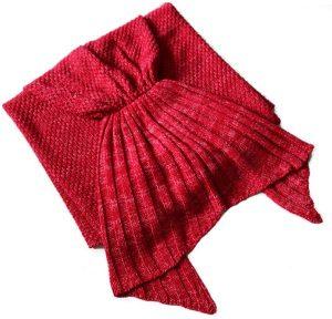 حورية البحر ذيل غطاء النوم بطاطين للنساء