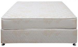 سرير بإطار قماش مصنوع من الخشب من شركة دانفورد يناسب الجنسين ، اللون اوف وايت - قياس مفرد