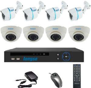 دى فى ار DVR وعدد 8كاميرات مراقبة ملونة عالية الوضوح بتقنية اي اتش دي AHD ماركة لونجسي العالمية