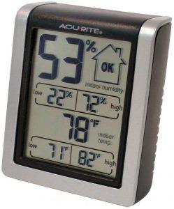 جهاز قياس درجة الحرارة ونسبة الرطوبة، مناسب في الاماكن الداخلية