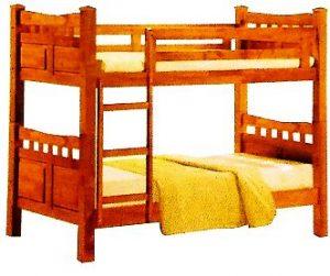 سرير طابقين علوي و سفلي مصنوع من الخشب يناسب الجنسين ، اللون بني - قياس مفرد