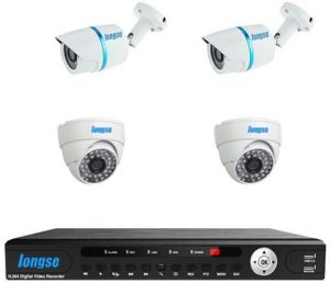 AHD P2P DVR 8 Channels 2 Indoor 1MP 2 Outdoor Water Proof Metal IP66 CCTV Security Camera 1MP