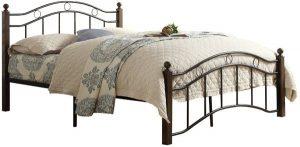 سرير عادي مصنوع من الستانلس ستيل يناسب الجنسين ، اللون متعدد الالوان - قياس مفرد