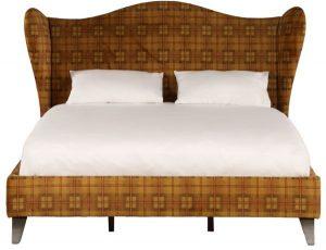 سرير عادي مصنوع من الخشب من شركة مارينا هوم يناسب الجنسين ، اللون بني - قياس كامل/مزدوج