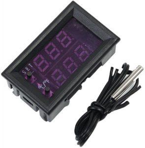 جهاز رقمي متحكم بدرجة الحرارة من 50- الى 110، DC 12V