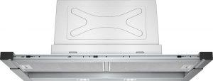 شفاط مطبخ من الستانلس ستيل يثبت تحت الخزانة بطول 90 سم بتصميم رفيع من سيمنز - فضي، LI97RA540B