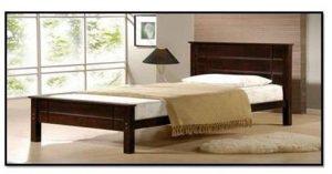 سرير عادي مصنوع من الخشب من جالاكسي ديزاين يناسب الجنسين ، اللون بني - قياس مفرد