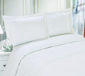 طقم اغطية سرير، ابيض، كينغ