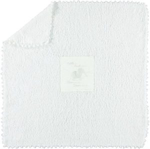 بطانية بوليستر من شركة باير فووت دريمز ، اللون ابيض - قياس 76.2 x 76.2 سم