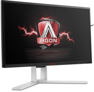 AOC 32-inch Curved VA display gaming monitor with AMD Sync technology, Full HD Resolution ‫(1920X 1080), 4ms, 144HZ refresh rate, with colorful LED Lights, AG322FX