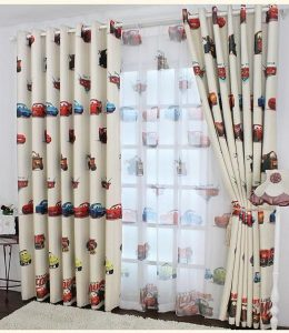 Cartoon cars kids babies blackout curtains size 100 cm in 270 cm