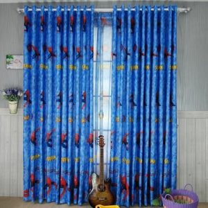 Cartoon spiderman kids babies blackout curtains size 100 cm in 270 cm