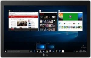 i-Life Zed PC All-in-One Desktop - Intel Celeron Apollo Lake N3350, 17.3-Inch Touch, 32GB, 3GB, Eng-Arb-KB, Windows 10, Silver