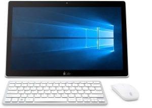 i-Life Zed PC All-in-One Desktop - Intel Celeron Apollo Lake N3350, 17.3-Inch Touch, 32GB, 3GB, Eng-Arb-KB, Windows 10, White