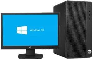 HP 290G1 Desktop, Intel Core i5, 8GB RAM, 1TB HDD, Win 10 with HP 18.5inch Monitor