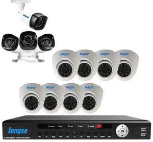 دى فى ار 16 مدخل + 8 كاميرات داخلى + 4 كاميرا خارجى ذات رؤية ليلية عالية الوضوح بتقنية أية إتش دى 1 ميجا