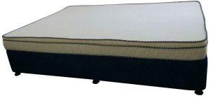 سرير بقاعدة تخزين مصنوع من القماش المنجد من شركة بلاك ستاليون يناسب الجنسين ، اللون ازرق - قياس مفرد