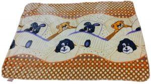 بطانية فانيلي ، اللون اصفر - قياس مهد/طفل