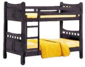سرير طابقين علوي و سفلي مصنوع من الخشب من شركة جالاكسي يناسب الجنسين ، اللون متعدد الالوان - قياس مفرد