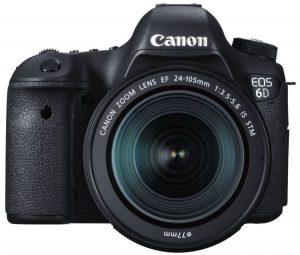 كاميرا كانون 6 دي (عدسة 24- 105 مم، 20.2 ميجابيكسل، دي إس إل أر، أسود)