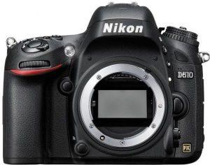 نيكون D610 بدون عدسات اضافية (24.3 ميجابيكسل، كاميرا رقمية مفردة العدسة عاكسة ، اسود)