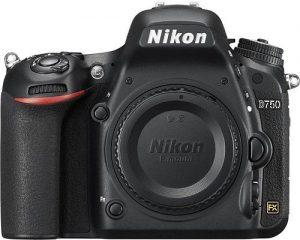 كاميرا من دون عدسة نيكون D750 - 24.3 ميجابيكسل, DSLR, اسود