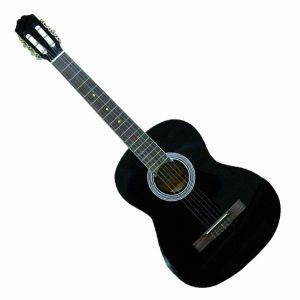 جيتار نيلون مع حقيبة حمل موديل (501) - أسود