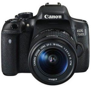 كاميرا كانون EOS 750D عدسة 18-55 ملم IS STM دقة 24.2 ميجابيكسل