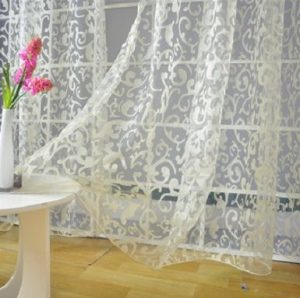 250 cm x 145 cm Fashion tulle for windows quality sheer curtain sheer pane