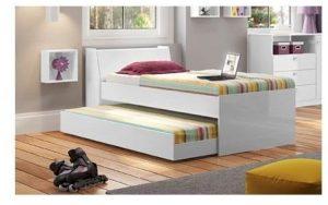 ديتاليا ودين سرير درجي مزدوج، ابيض - 220 x 86 x 88