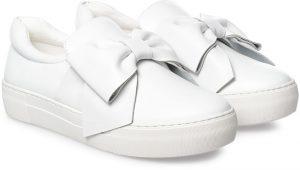 JSLIDES حذاء سهل الارتداء للنساء ، ابيض
