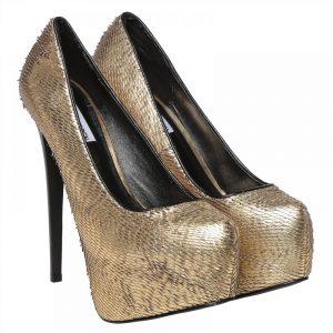 ستيف مادلين كعب حذاء رسمي للنساء - ذهبي