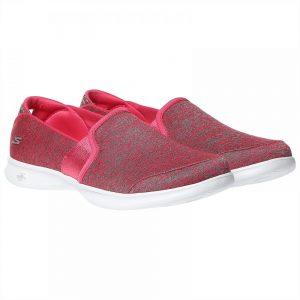 حذاء لرياضة المشي من سكيتشيرز للنساء - اللون زهري