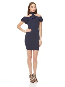 Girls On Film Bodycon Dress for Women - Navy