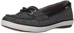 كيدز حذاء سهلة الارتداء اسود -للنساء