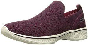 سكيتشرز حذاء سهلة الارتداء بورغندي -للنساء