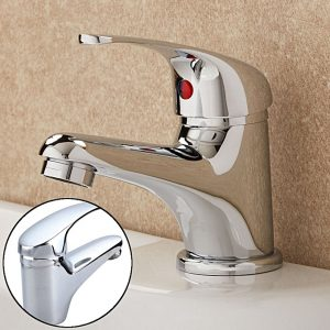 Universal Hot Cold Chrome Classic Bathroom Single Side Lever Basin Sink Water Mixer Tap
