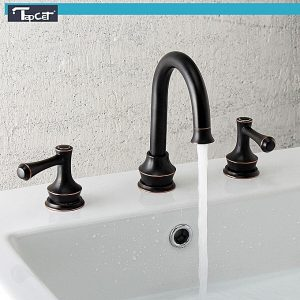 Universal TAPCET Bathroom Sink Faucet Chrome/Oil Rubbed Bronze Basin Dual Handle Mixer Tap