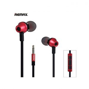 Remax RM 610D 3.5mm Plug Headphone In-Line Control Stereo Earphone With Mic(RED)
