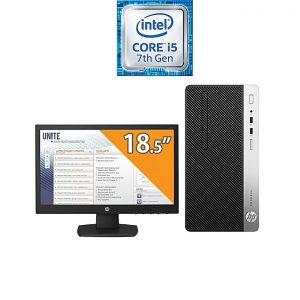 HP جهاز ProDesk 400 G4 Microtower - انتل كور i5 - رامات 4 جيجا بايت - 500 جيجا بايت HDD - رسومات انتل - DOS + V197 - شاشة HD 18.5 بوصة