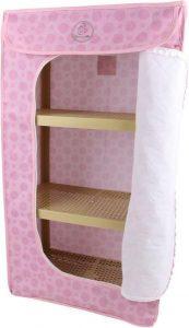 خزانة ملابس للاطفال ثلاثة ارفف , زهري