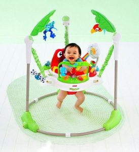 Baby Walker With Toys By BabyLove, Multi Color-9402064