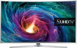 تلفزيون ذكي منحني 4 كيه، سوبر الترا اتش دي، ال اي دي، 65 انش من سامسونج، UA65JS9000
