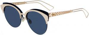 نظارة شمسية بعدسات زرقاء