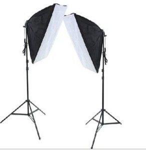مجموعة اضاءة سوفت بوكس تصوير مستطيلة الشكل